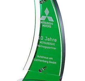 3D-Laser Acryl-Award Lasergravur