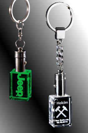 3D-Laser Give Away Schlüsselanhänger