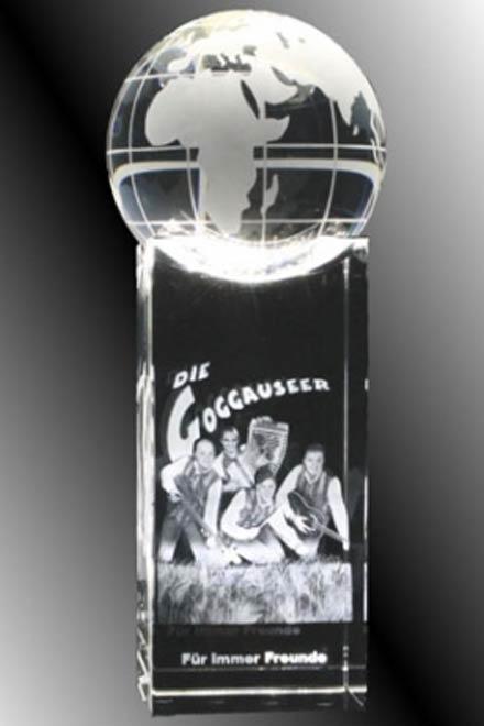 3D-Laser Globe Slugholder Award