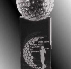 3D-Laser Golf-Award Fussball-Trophy