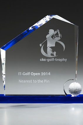 3D-Laser Golf Trophy Lasergravur