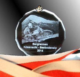 3D-Laser Kristallglas Medaille