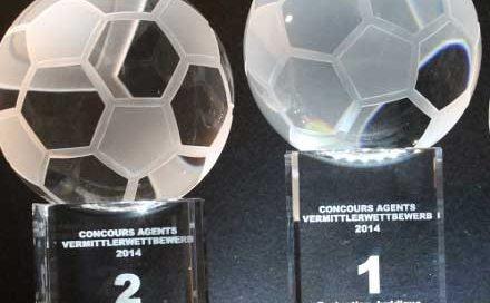 3D-Laser Verein Fussball Trophäe Pokal