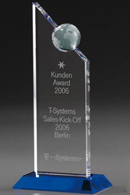 3D-Laser Weltdarstellung Globe Trophy