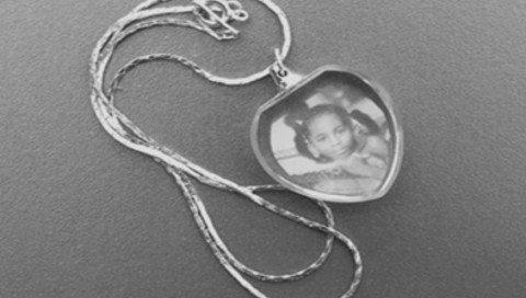 Foto in Glas Halskette