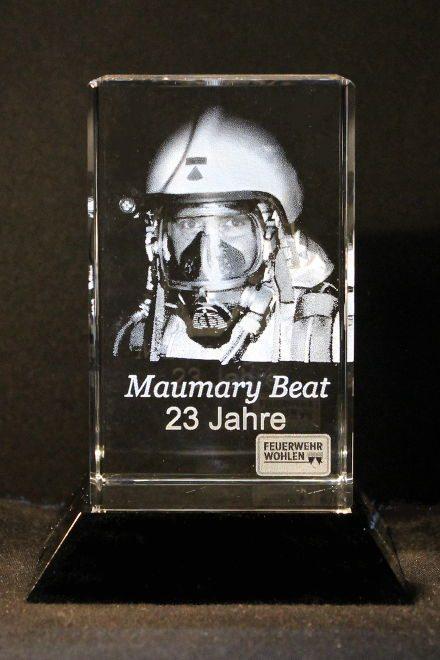 Feuerwehr Abtretungspreis Lasergravur