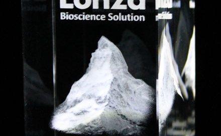 3D Laser Souvenirs Kristallglas Matterhorn Mitarbeitergeschenk