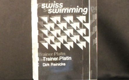 3D Laser Vereinspokale SwissSwimming Lasergravur