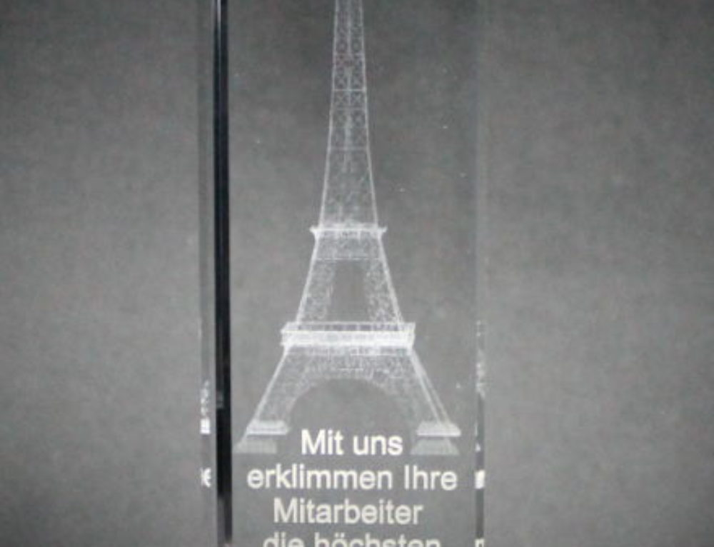 Mitarbeiter Award Bregenz Neuheit 2016 / Innenglasgravur