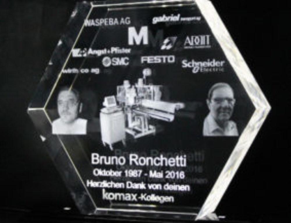 """Kristallglas-Award """"Hexagon"""""""