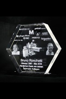 3d lasergravur Award Hexagon