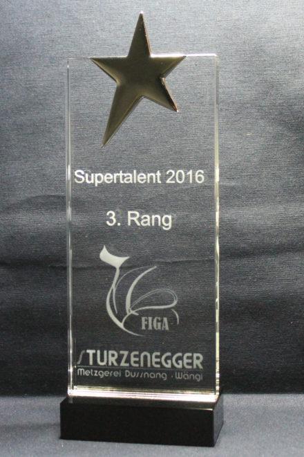 Glas Pokal Award Stern Ehrungspreis