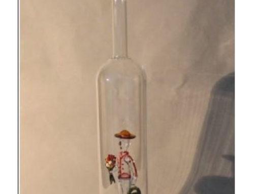 Schnaps Flasche mit 3D-Motiven